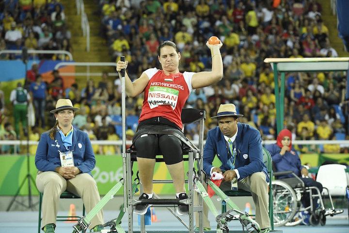 Rio de Janeiro, 2016. szeptember 18. Kálmán Krisztina a súlylökés F32 kategória döntőjében a riói paralimpián az Olimpiai Stadionban 2016. szeptember 17-én. A magyar versenyző a hatodik helyen végzett. MTI Fotó: Koszticsák Szilárd