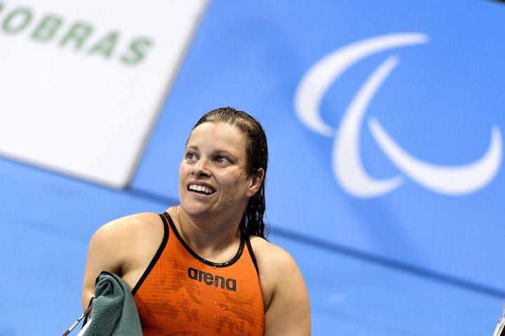 Rio de Janeiro, 2016. szeptember 11. Kézdi Réka az 50 méteres pillangóúszás S5-ös sérültségi kategóriájának döntőjében a riói paralimpián a Rio de Janeiró-i Olimpiai Uszodában 2016. szeptember 10-én. Kézdi Réka a negyedik helyen végzett. MTI Fotó: Koszticsák Szilárd