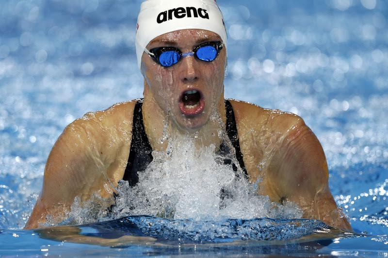 Katinka Hosszu of Hungary competes in the women's 400m Individual Medley (IM) Heats during the 13th FINA Short Course World Swimming Championships at WFCU Centre in Windsor, Ontario, Canada, 06 December 2016.