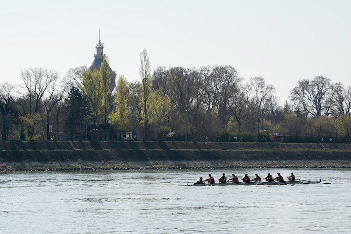 Budapest, 2017. április 1. A Thames Rowing Club csapata az évadnyitó Gróf Széchenyi István emlékversenyen és nemzetközi Budapest Kupán a Margit-szigetnél 2017. április 1-jén. MTI Fotó: Balogh Zoltán