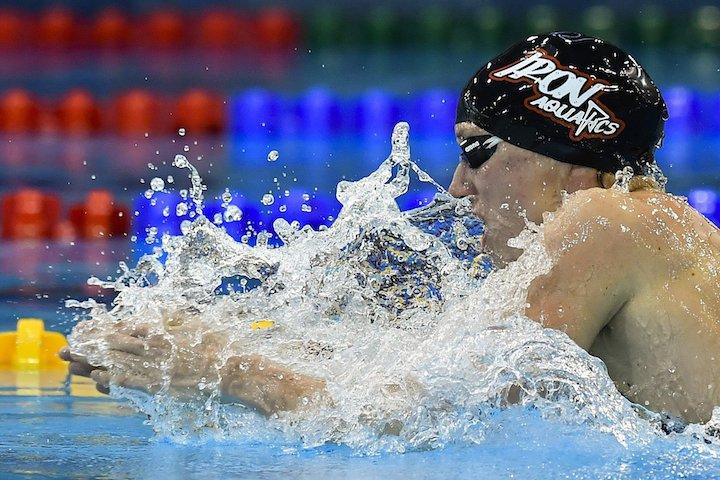 Debrecen, 2017. április 21. A későbbi győztes Hosszú Katinka a 400 méteres vegyes úszás döntőjében az úszók országos bajnokságán a Debreceni Sportuszodában 2017. április 21-én MTI Fotó: Czeglédi Zsolt