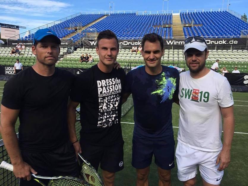 Sávolt Attila, Fucsovics Márton, Roger Federer és Luthi