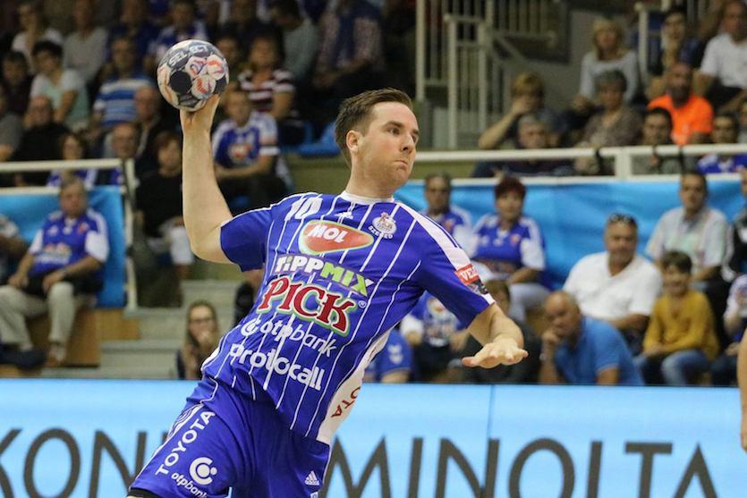Az izlandi Stefán Rafn Sigurmannsson első szegedi BL-meccsét játssza a Nantes ellen. Fotó: Fotó: Kovács Alíz/MOL-Pick Szeged